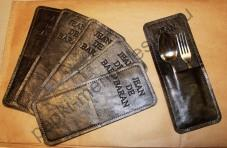 Конверт для столовых приборов из натуральной кожи большой (Арт. К -1)