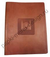 Папка меню из шорно-седельной кожи (Арт. К-32)