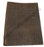 Папка меню из фактурной шорно-седельной кожи (Арт. К-35)