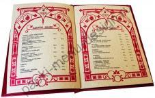 Печать меню на дизайнерском картоне