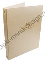 Папки меню из дизайнерского переплётного материала (Арт. М - 65)