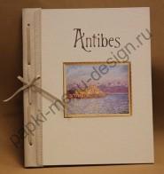 Папка из переплётного картона, дизайнерского материала и натуральной кожи (Арт. М -3)