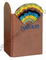 Яркая  папка меню с рюшами  (Арт.О-5)