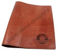 Кожаная папка меню (Арт. Бруна) низкая цена, хорошее качество